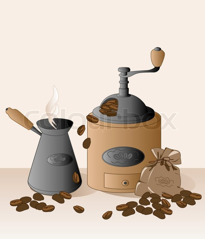 http://www.colourbox.com/preview/1951573-77775-coffee-grinder-cezve-coffee-beans-and-bag.jpg