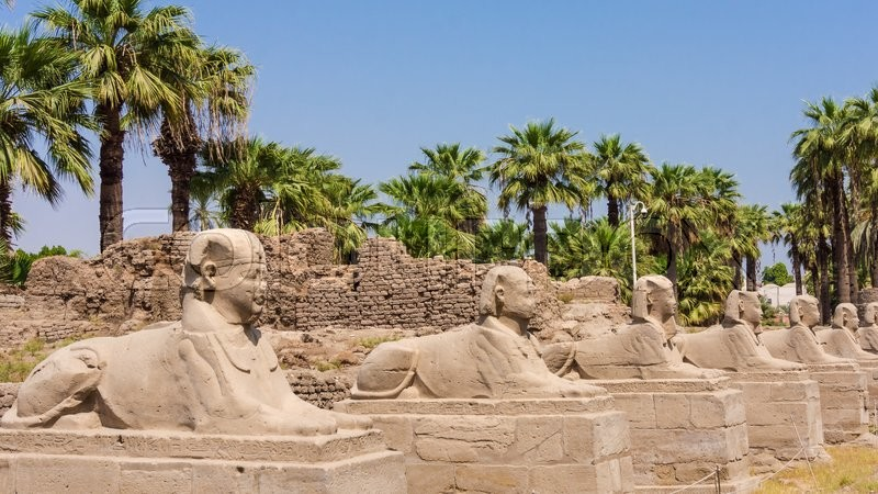 Stock image of 'Avenue of the Sphinxes, Egypt'