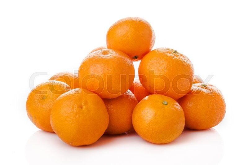 Stock image of 'Clementine  isolated.  mandarin.  orange. tangerine'