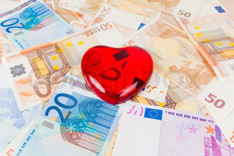 Stock image of 'Love for the money'