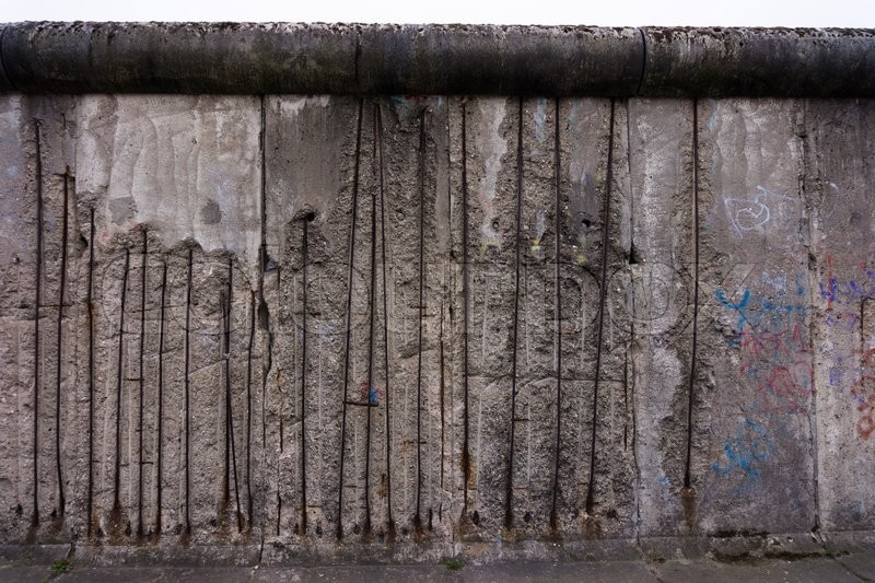 Stock image of 'Remains of the Berlin Wall. The Berlin Wall (Berliner Mauer) in Germany'