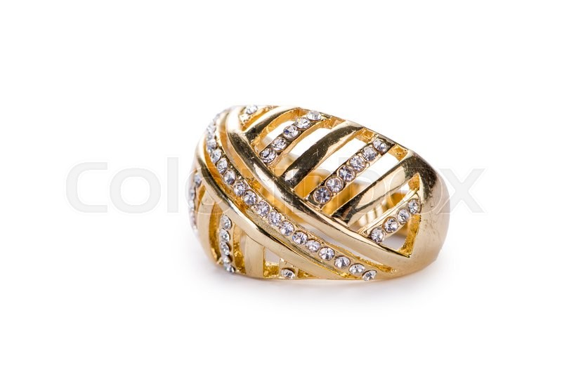 Stock image of 'Golden ring isolated on white background'
