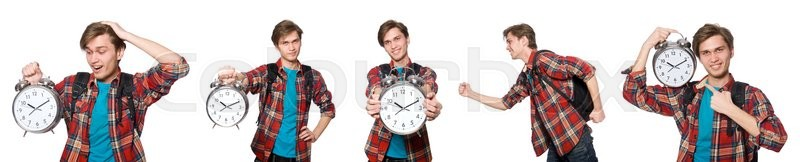 Stock image of 'Angry student missing his deadlines'