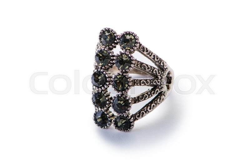 Stock image of 'Jewellery ring isolated on the white'