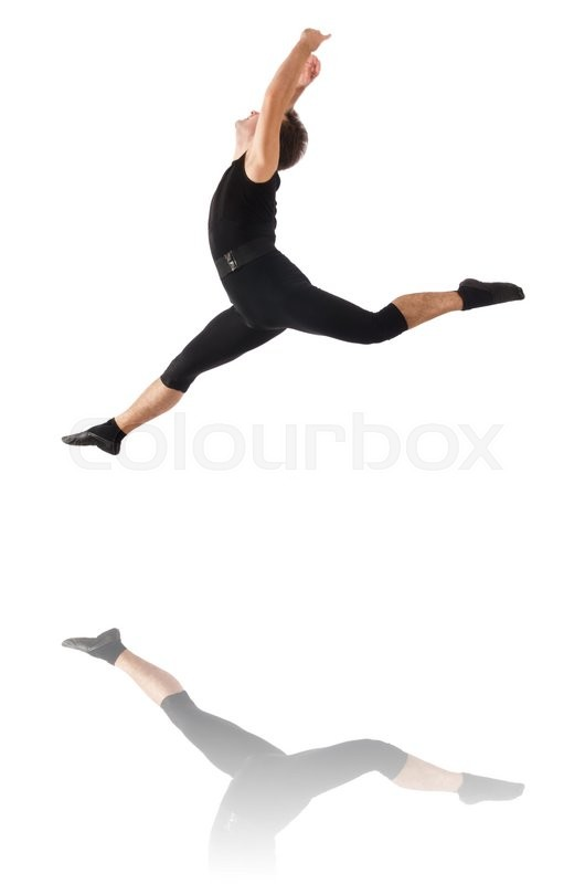 Stock image of 'Young dancer isolated on the white'
