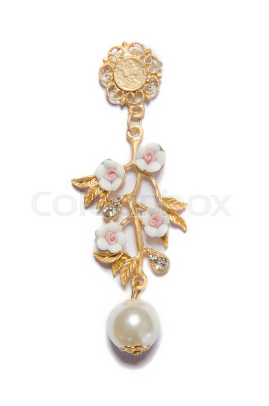 Stock image of 'Fashion jewellery isolated on white'
