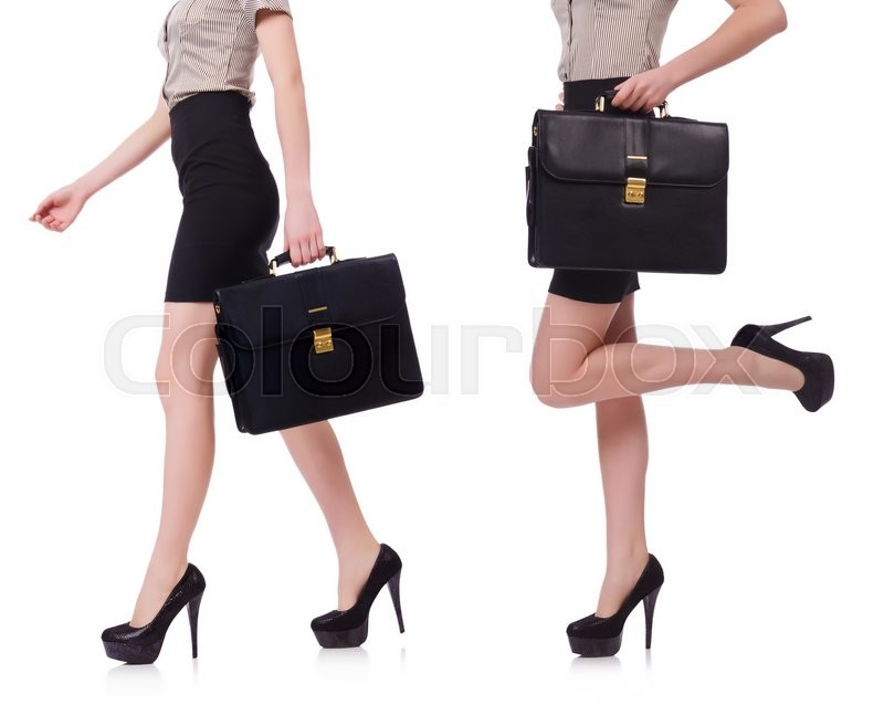 Stock image of 'Collage of businesswoman isolated on the white background'