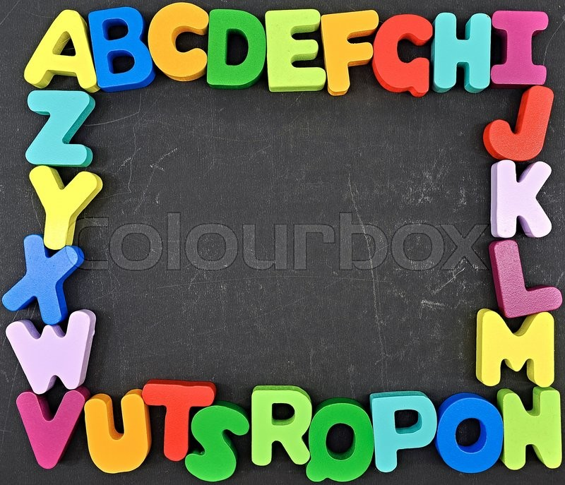 Stock image of 'A studio photo of wooden letters'