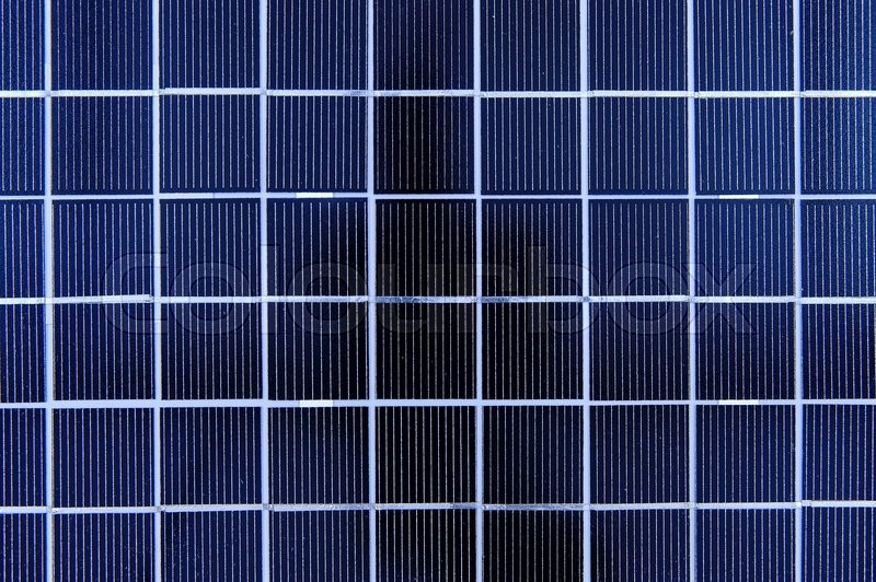 Stock image of 'A solar panel isolated against a white background'