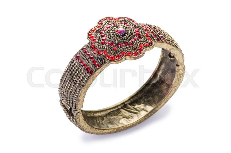 Stock image of 'Gold jewellery ring isolated on the white background'