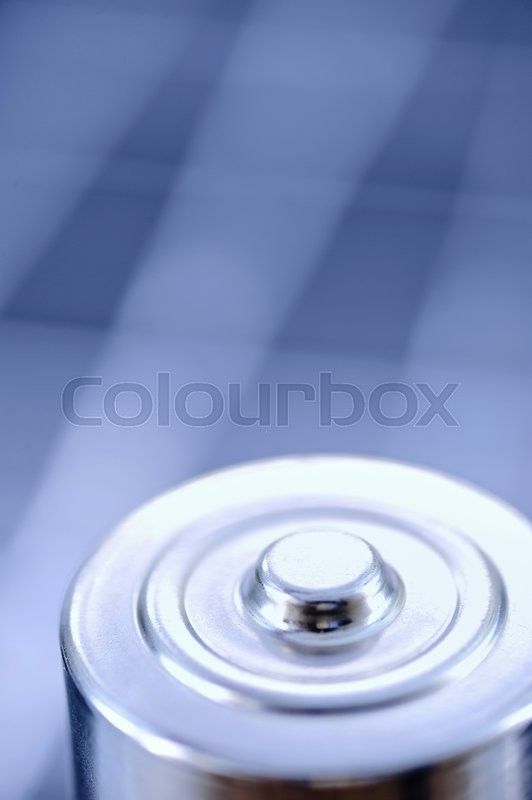 Stock image of 'A studio photo close up of a battery'