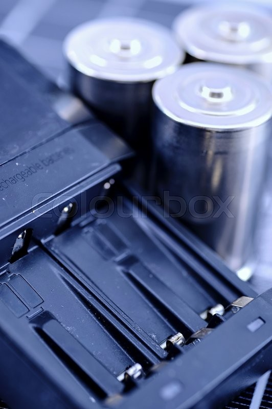Stock image of 'A studio photo close up of a battery charger'
