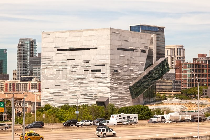 Editorial image of 'DALLAS, USA - APR 7: Exterior of the Perot Museum of Nature and Science in Dallas Downtown. April 7, 2016 in Dallas, Texas, USA'