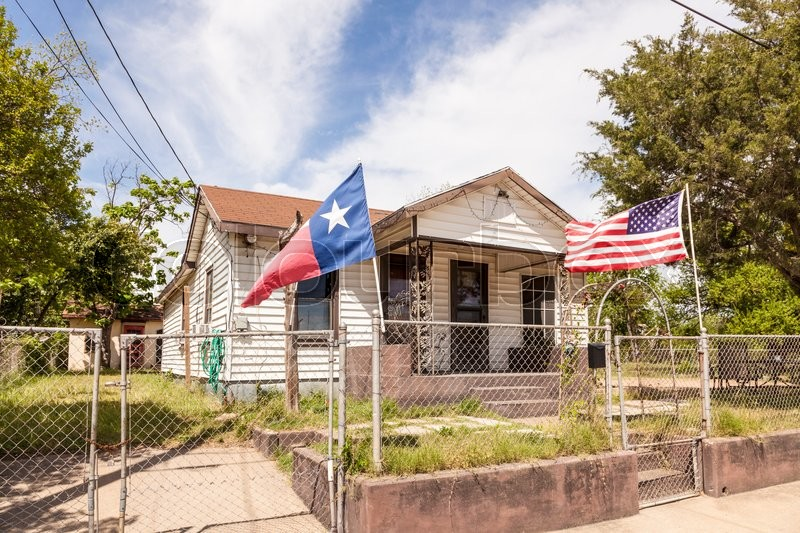 Stock image of 'Residential house in Texas, United States'