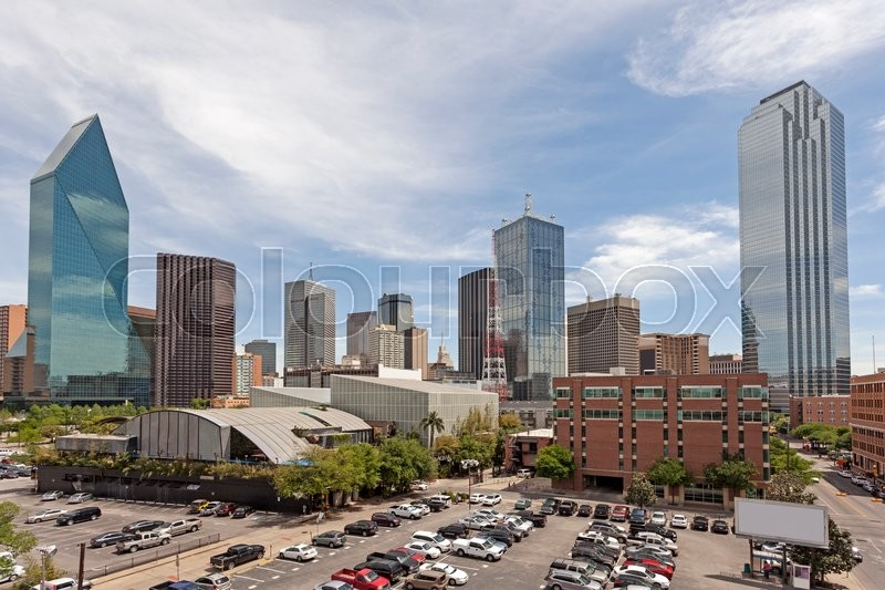 Stock image of 'Parking lot in Dallas Downtown. Texas, United States'