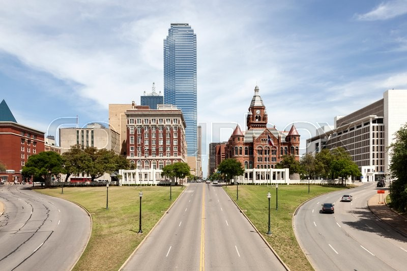 Stock image of 'View over the Dealey Plaza in the city of Dallas. Texas, United States'