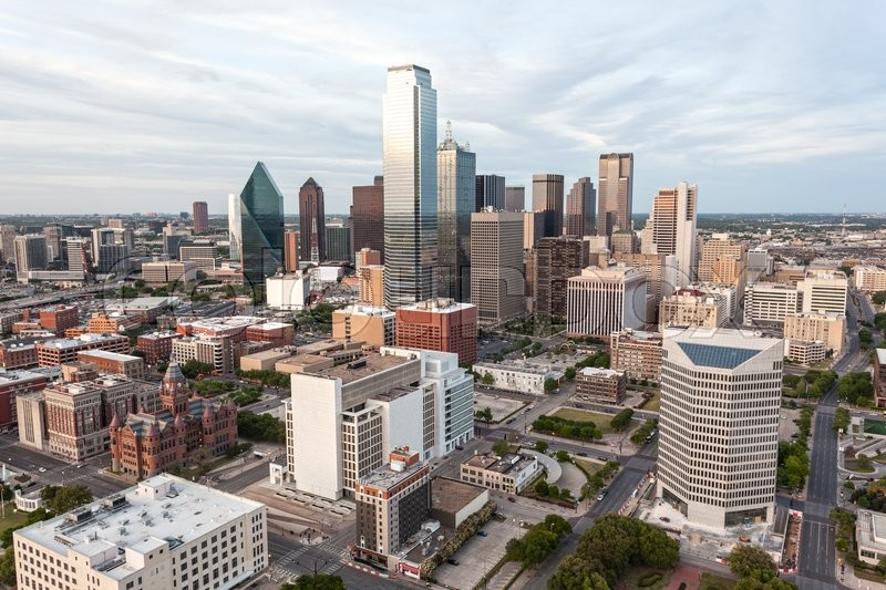 Stock image of 'Skyline of Dallas downtown. Texas, United States'