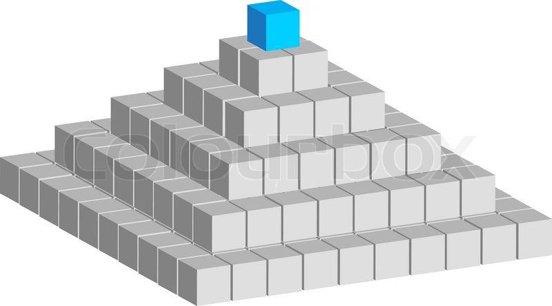 Как из куба сделать пирамиду