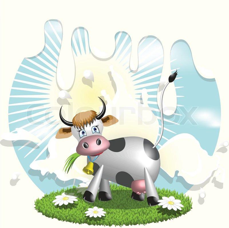 Milk Cow Vector Cow And Milk Vector