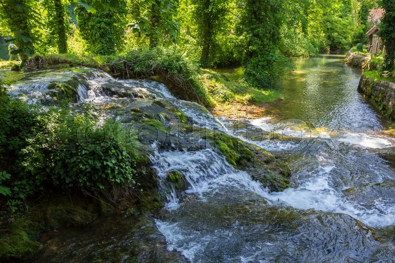 Stock image of 'Beautiful nature and waterfalls  in village of Rastoke, Croatia'