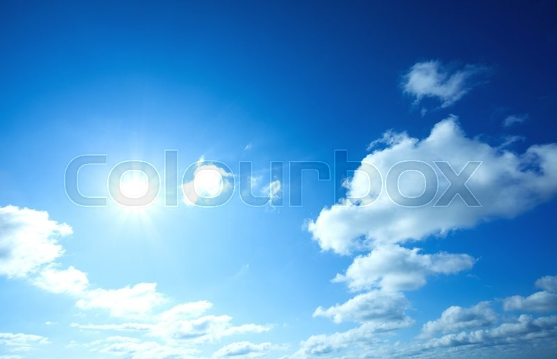 Stock image of 'Beautiful blue sky and white clouds '