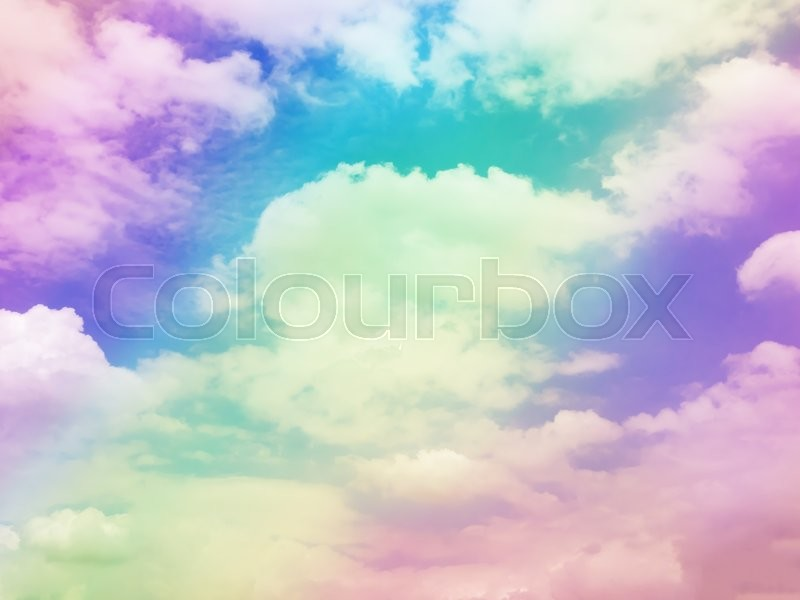 Colorful cloud sky abstract background, ...