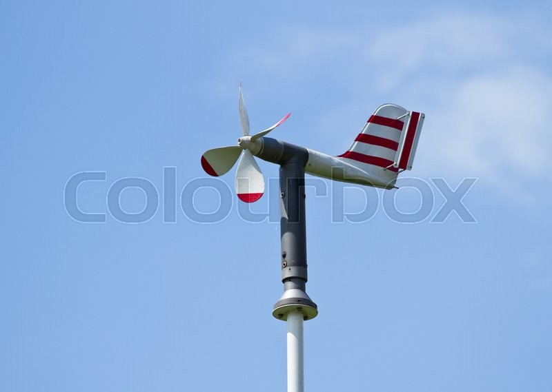 Stock image of 'Meteorological station measuring wind speed'