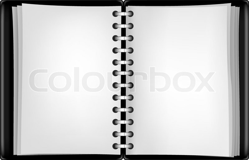 Notepad Black Background