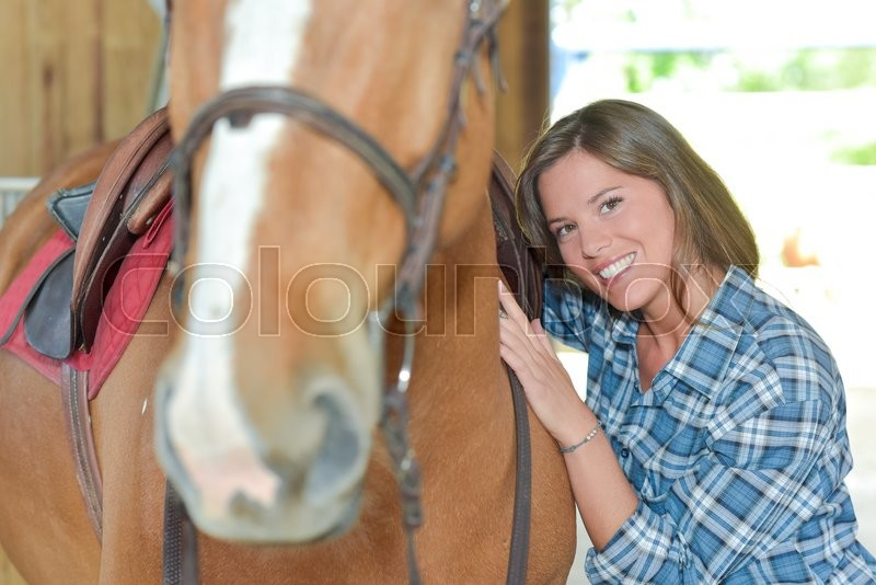 Stock image of 'Passion for horse'