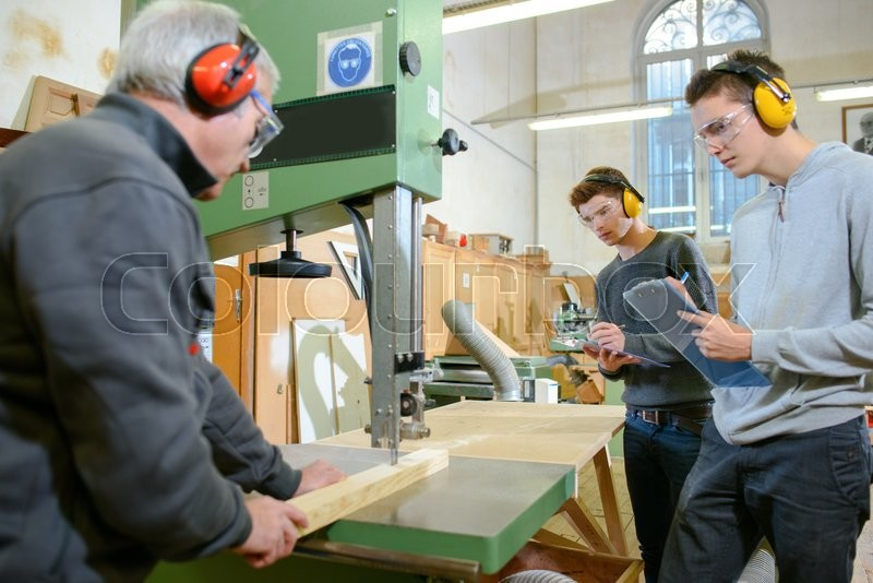 Stock image of 'Woodwork apprenticeship'
