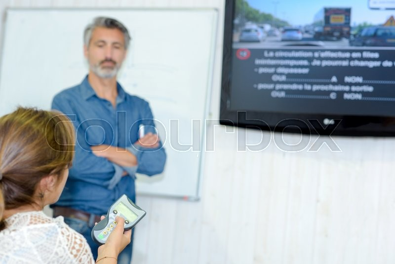 Stock image of 'Theory driving class'
