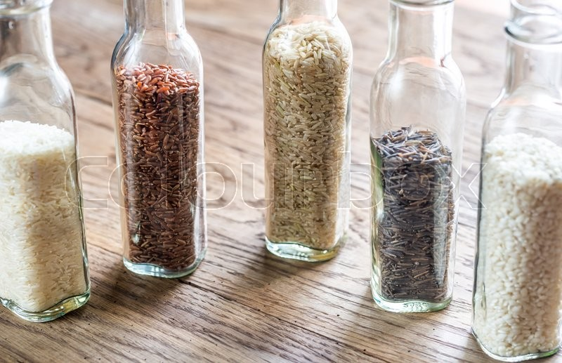 Stock image of 'Different kinds of rice'