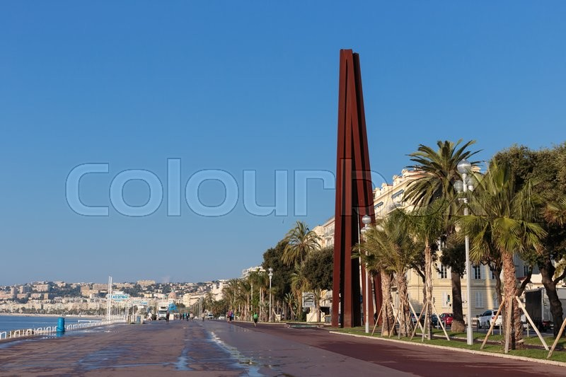 Stock image of 'NICE, FRANCE - OCTOBER 30, 2014: General view of the promenade'