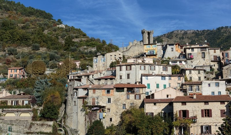 Stock image of 'Mountain old village Luseram, Provence Alpes Cote d'Azur, France.'