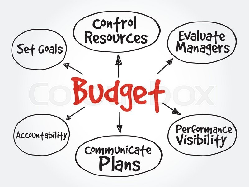 purposes of maintaining budget mind map flowchart business concept