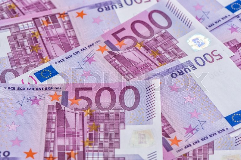 Stock image of 'Five hundred notes. European Union Currency. Money Background'