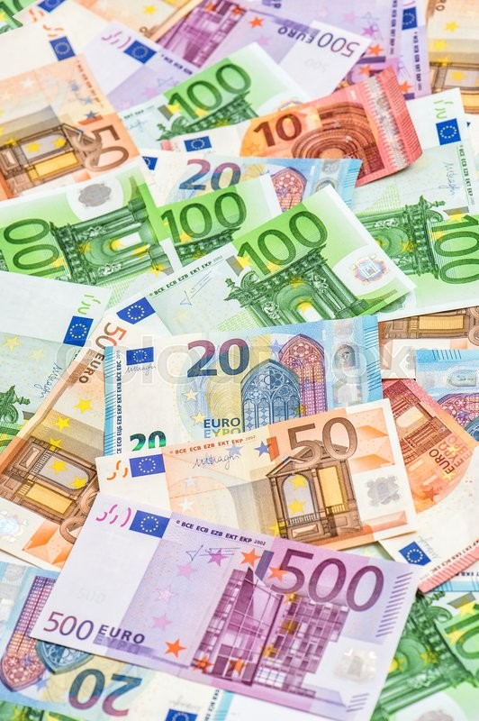 Stock image of 'Euro currency banknotes. Money background. Business concept'