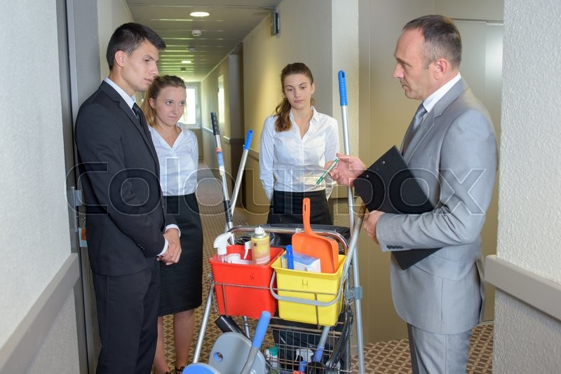 Stock image of 'Cleaning team'
