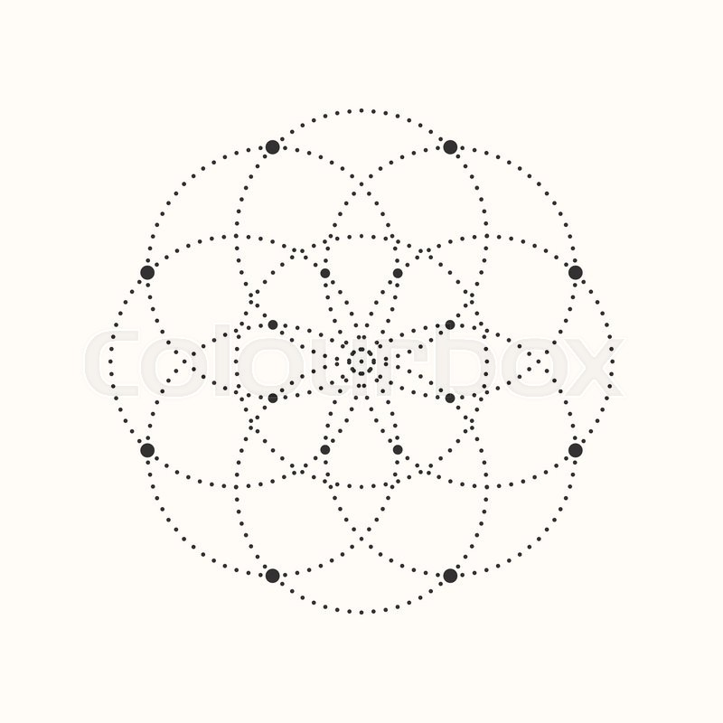 Vector geometric shape  Dotted design     | Stock vector