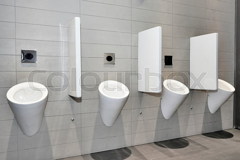 Stock image of 'Dynamic view of a modern public toilett '