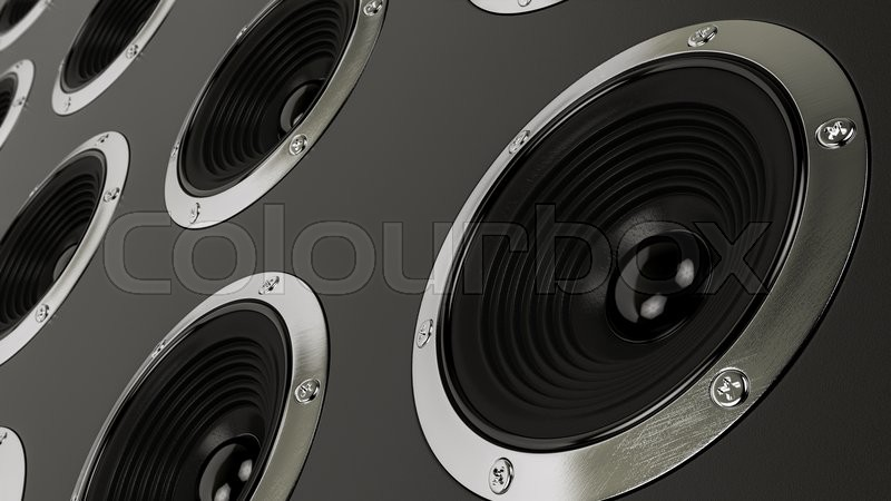 Stock image of 'Sound speakers stereo system Hi-Fi'