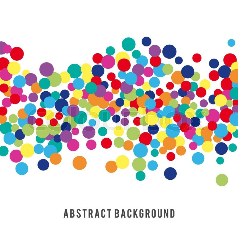 Colorful Abstract Spot Background Vector Illustration For