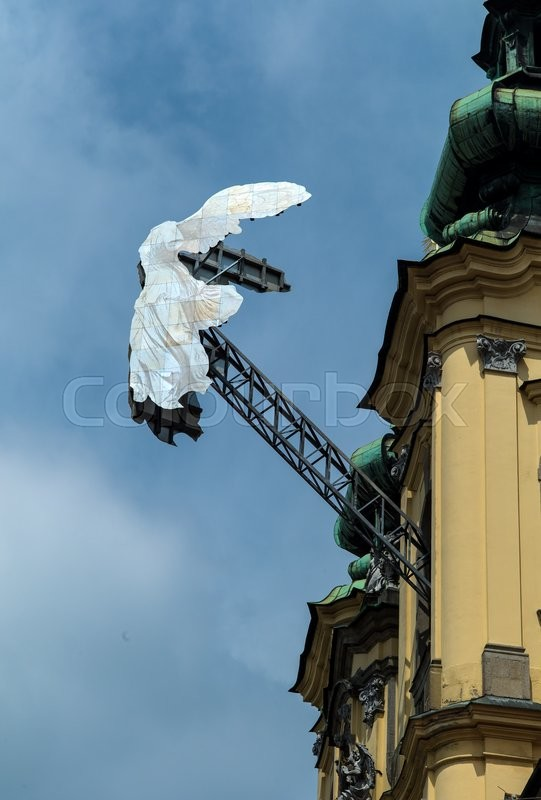 Stock image of 'Nike on the landstrasse in linz, austria'