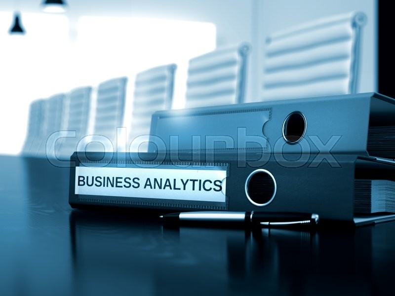 Stock image of 'Business Analytics. Illustration on Toned Background. Business Analytics - Business Illustration. 3D.'
