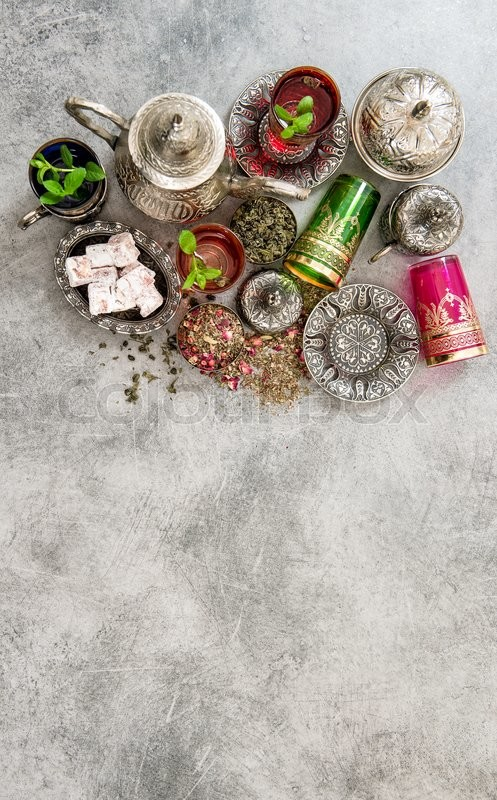 Stock Bild von 'ramadan, arabisch, turkish delight'