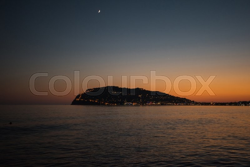 Stock image of 'Alanya city, view from the beach, one of the famous destinations in Turkey'