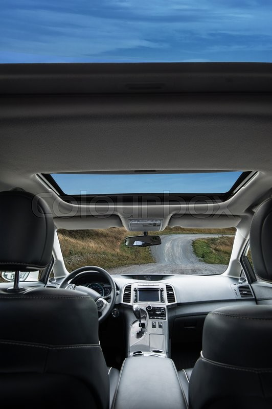 Stock image of 'Travel in car with panoramic roof'