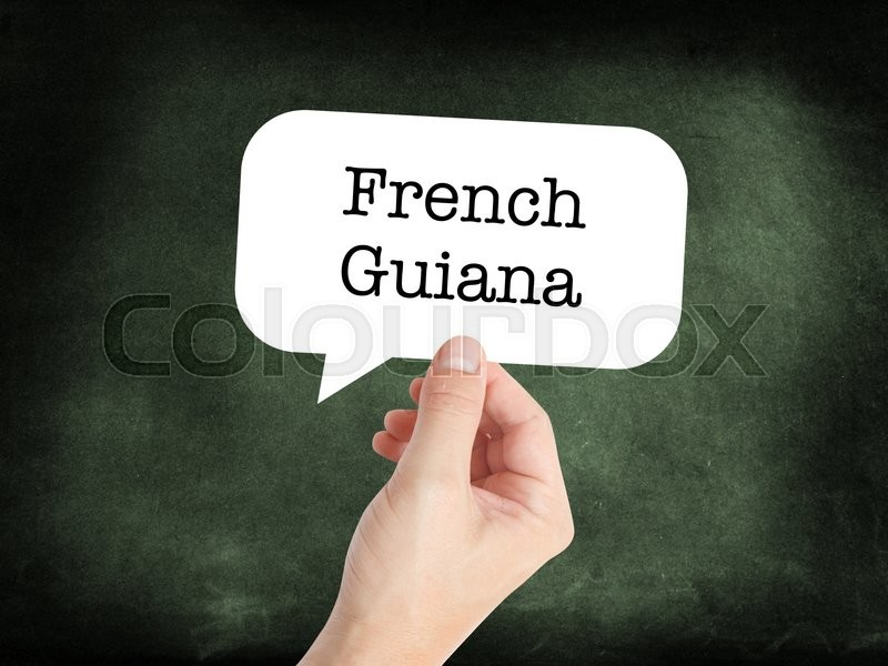 Stock image of 'French Guiana concept in a speech bubble'