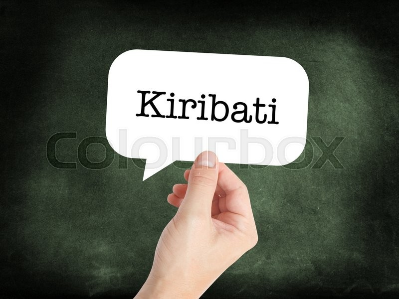 Stock image of 'Kiribati concept in a speech bubble'