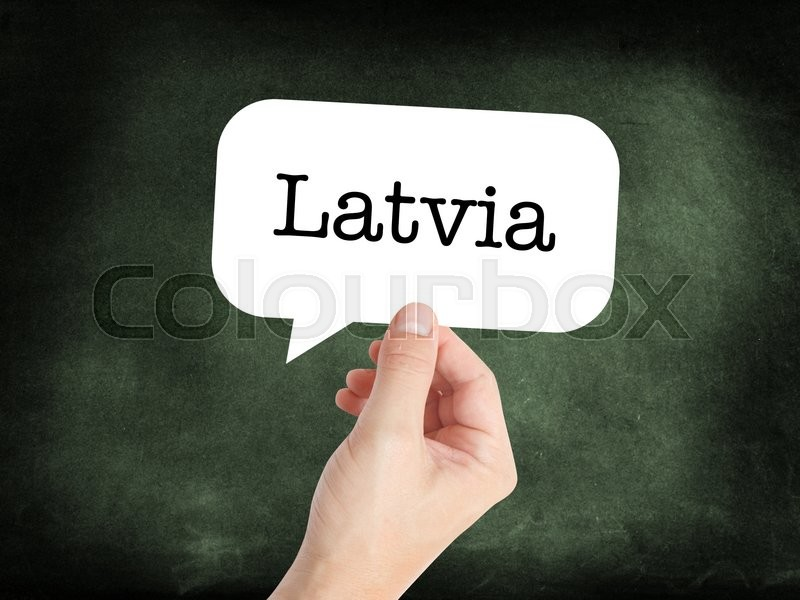 Stock image of 'Latvia concept in a speech bubble'